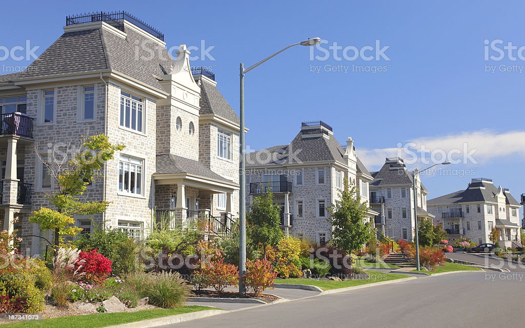 Serie of similar condominium buildings royalty-free stock photo