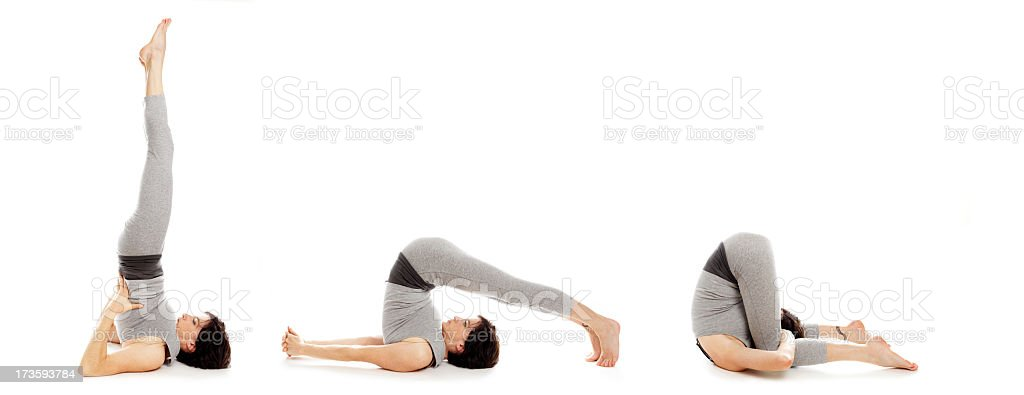 Serie Two : yoga postures royalty-free stock photo