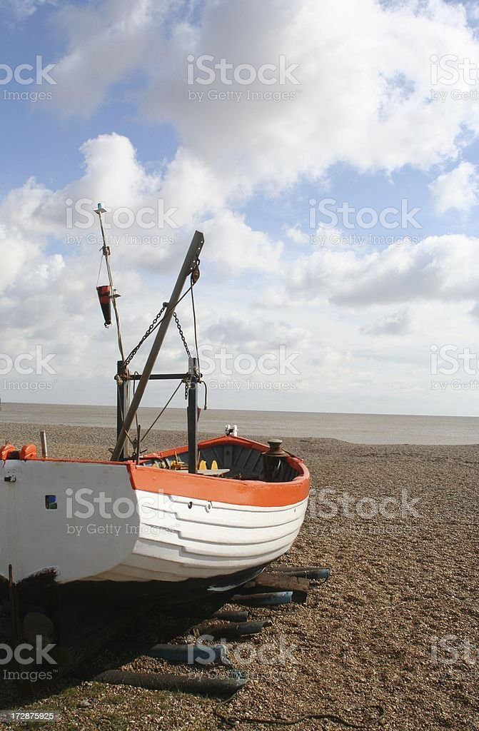 Series 2 Old fishing boat on beach Aldeburgh Suffolk England stock photo