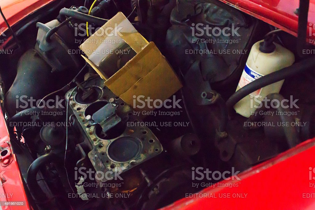 Series A Engine Compartment stock photo