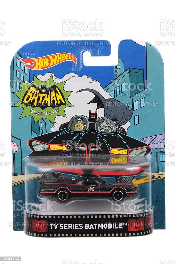 TV Series Batmobile Hot Wheels Diecast Toy Vehicle stock photo