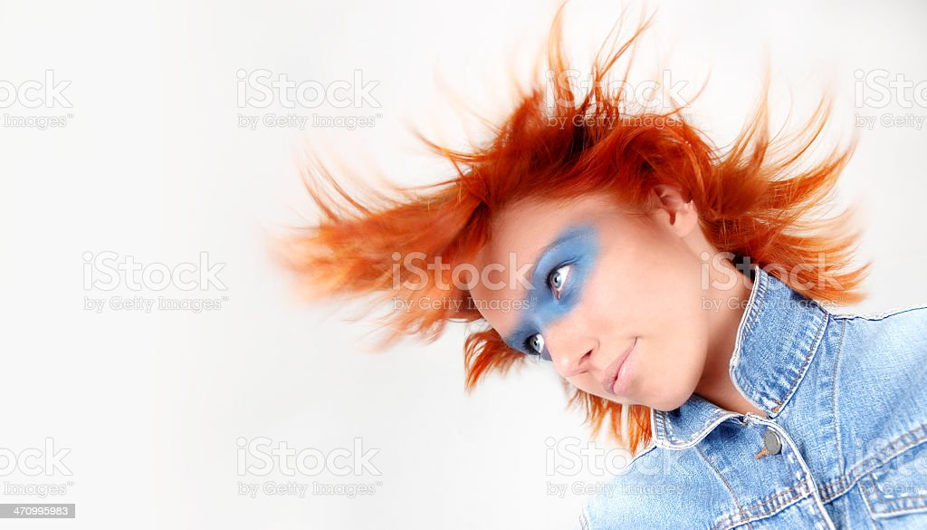 WIND I series - blue royalty-free stock photo