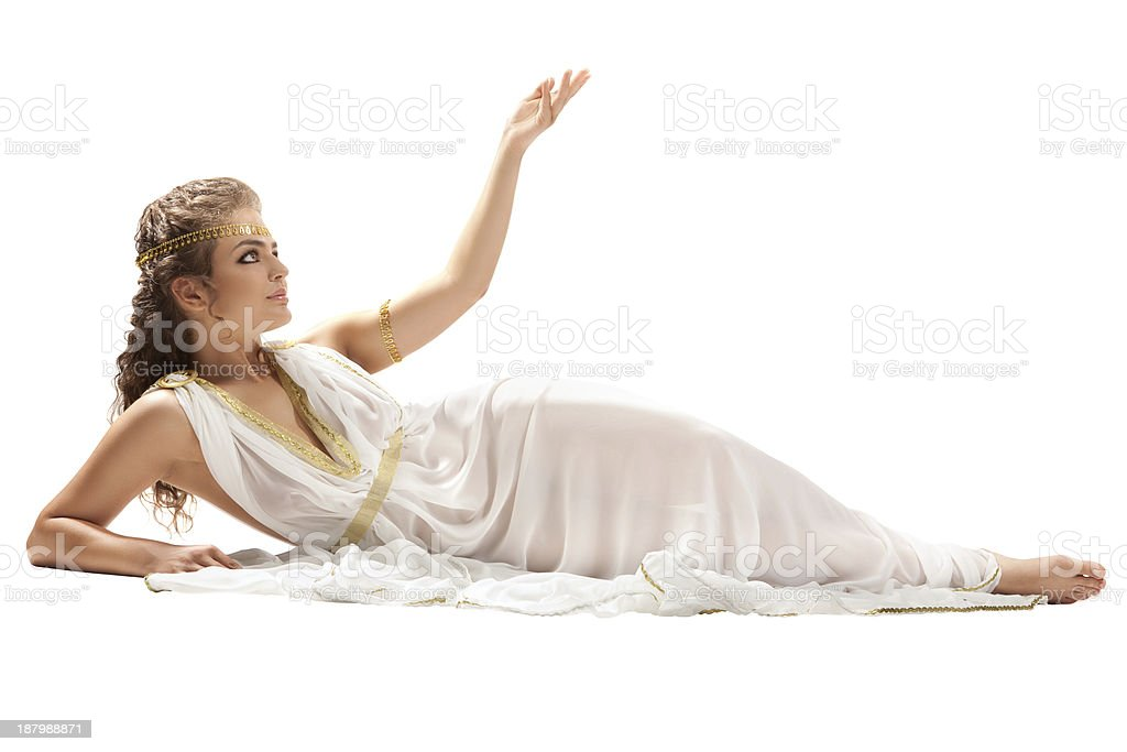 Series: Classical Greek Goddess in Tunic stock photo