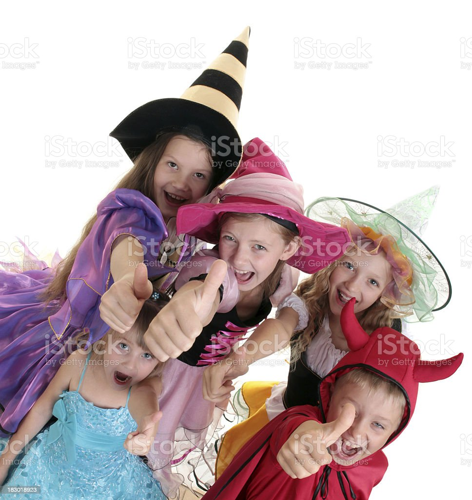 Series: Halloween Children with Thumbs Up. royalty-free stock photo