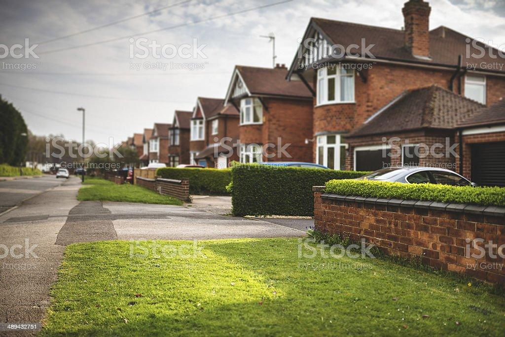 Series of british brick house stock photo