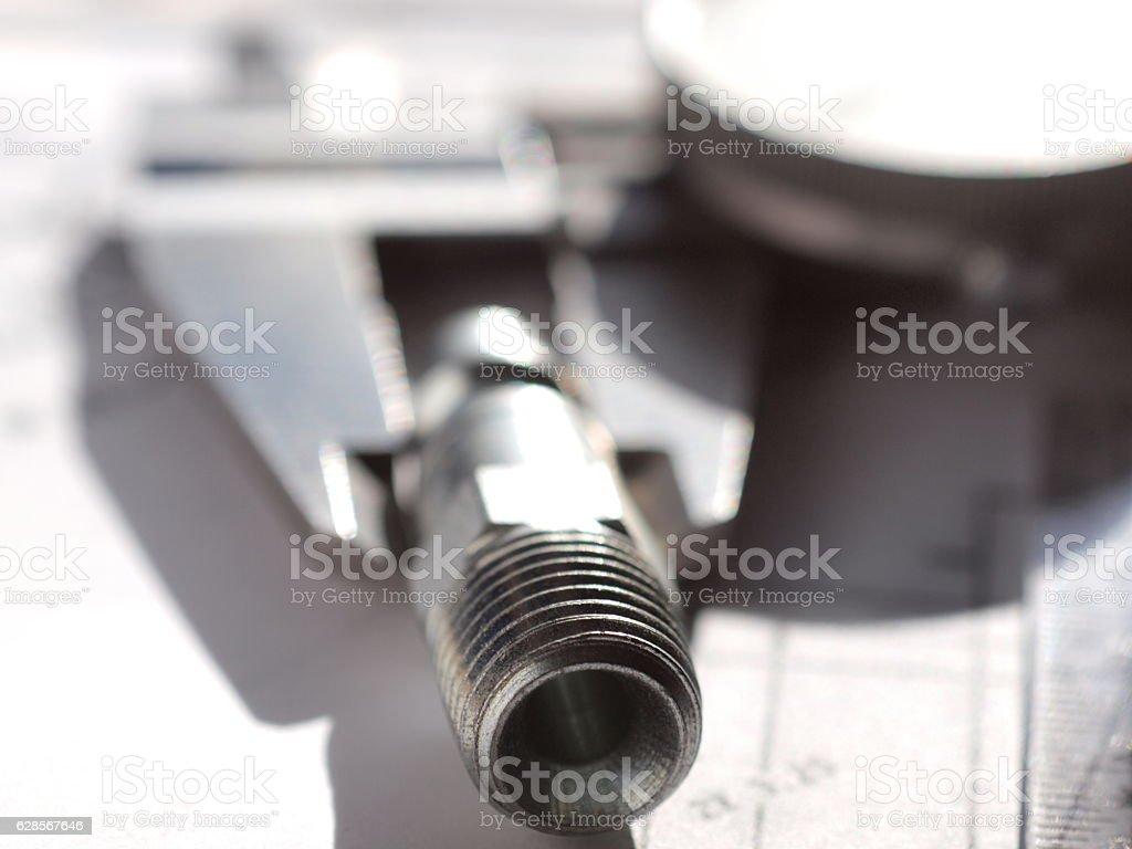 Series of Mechanical Engineer macro photography stock photo
