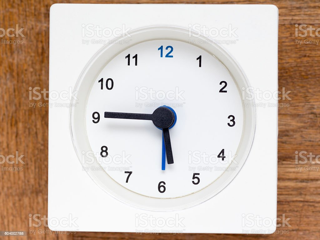 Series of the sequence of time stock photo