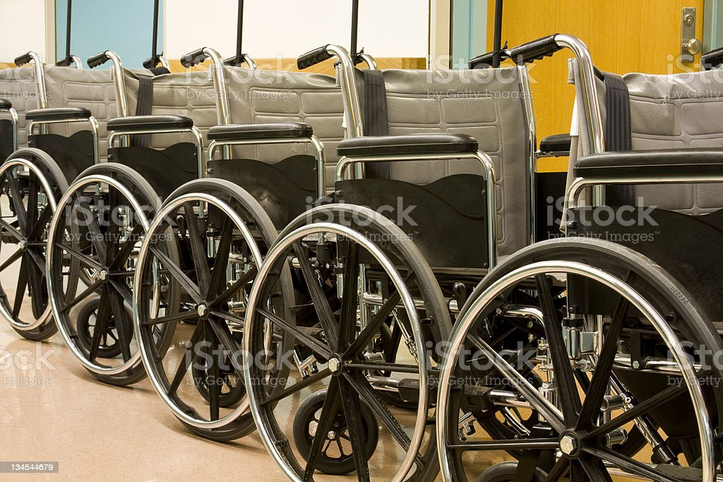Series of Wheelchairs stock photo