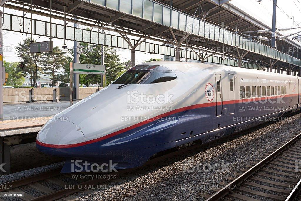 E2 Series Shinkansen in Japan stock photo