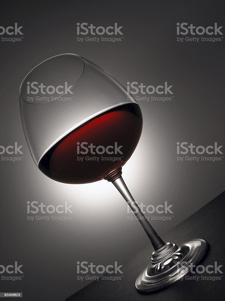 series: smart cup of wine -9- royalty-free stock photo