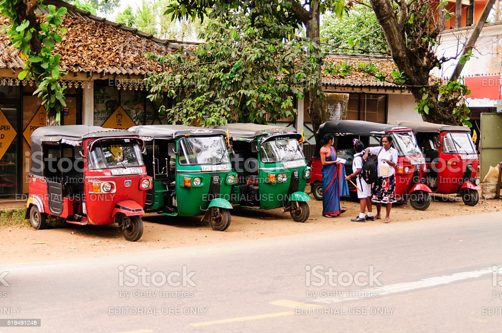 Series tuk-tuk taxi stock photo