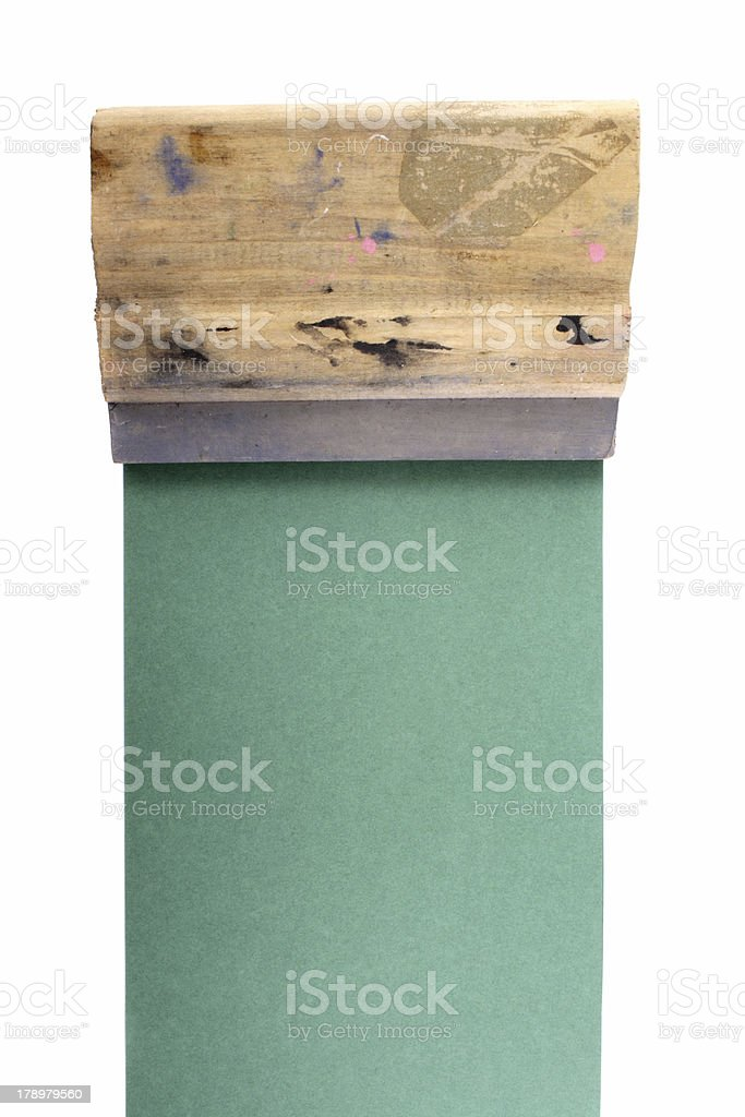 Serigraphy royalty-free stock photo