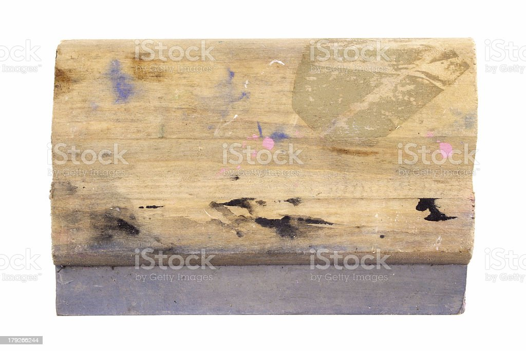 Serigraphy Squeegee stock photo