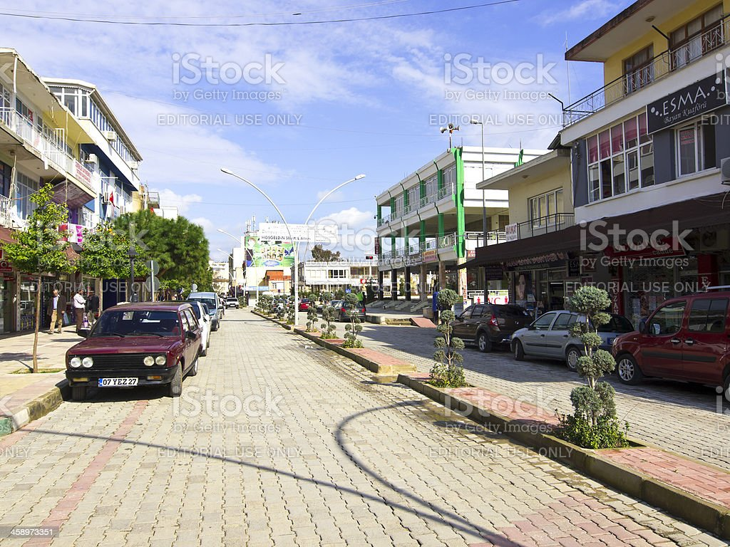 Serik street royalty-free stock photo