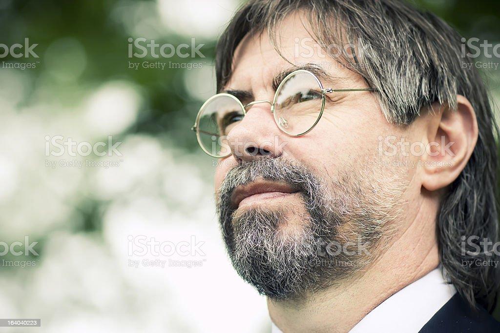 serios senior man royalty-free stock photo