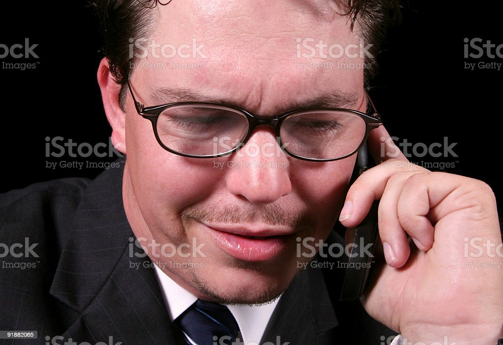 Serious 3. stock photo