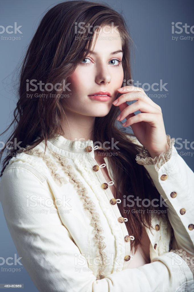 Serious about beauty stock photo