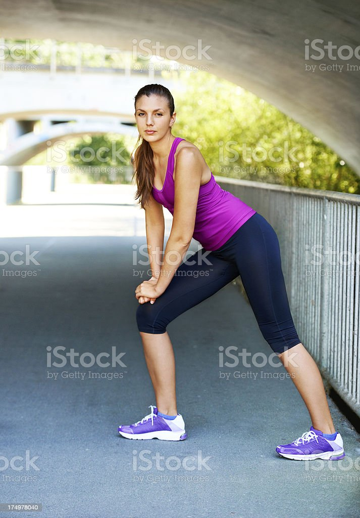 Serious about getting fit royalty-free stock photo