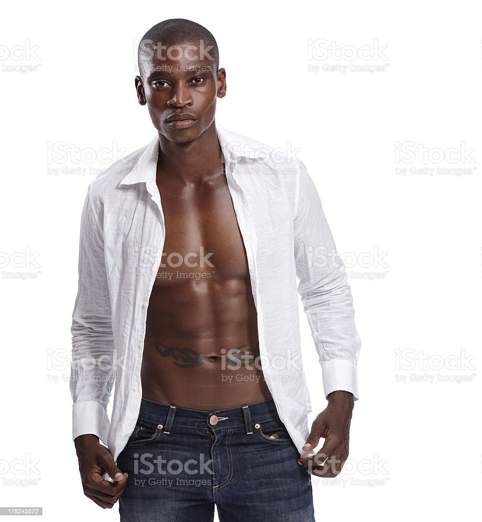 Serious about his style! royalty-free stock photo