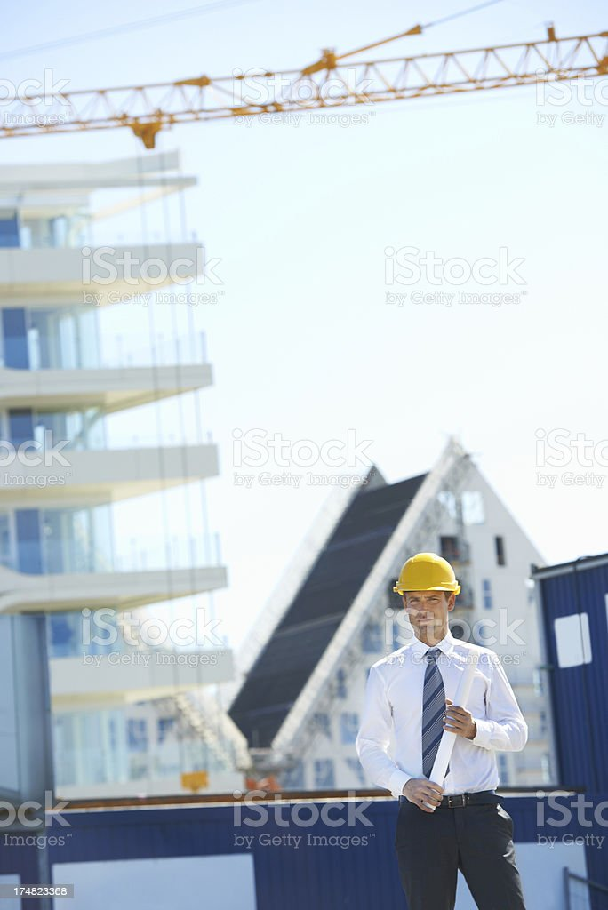 Serious about his work royalty-free stock photo