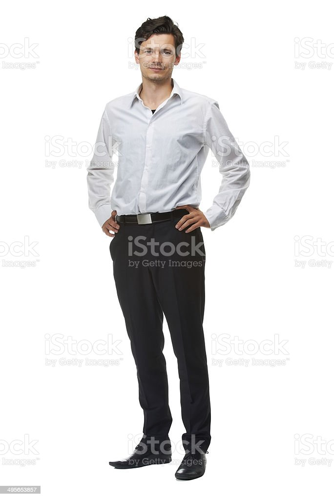 Serious about my style stock photo