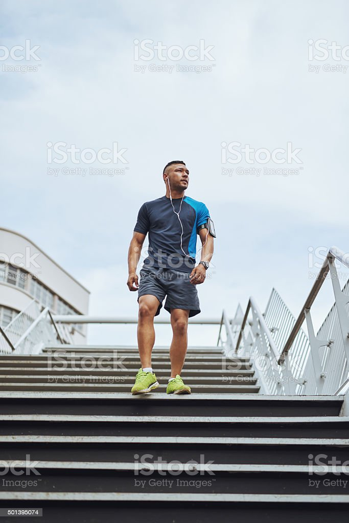 Serious about staying in shape stock photo