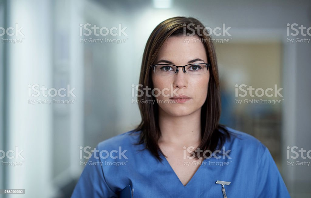 Serious about your medical matters stock photo