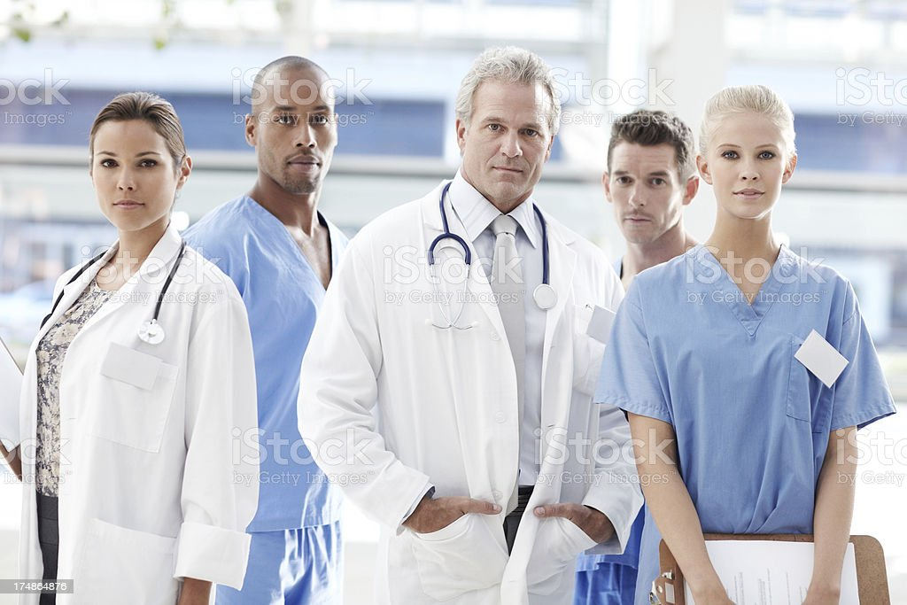 Serious about your medical needs royalty-free stock photo
