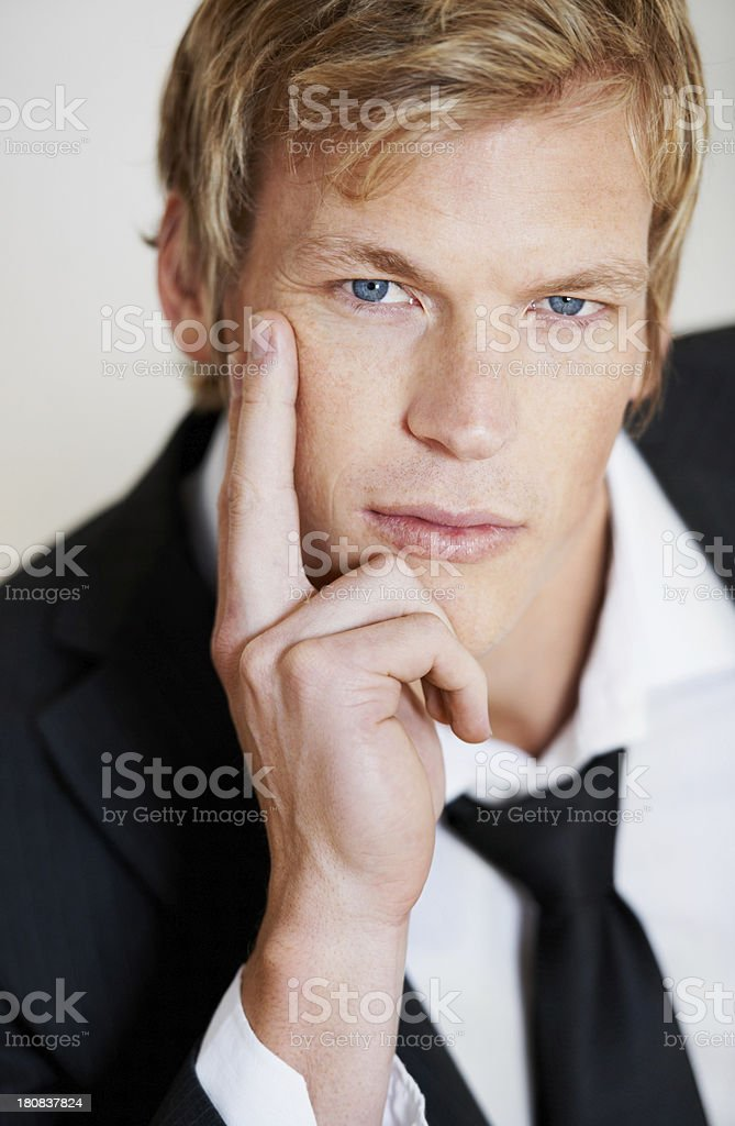Serious and suave royalty-free stock photo