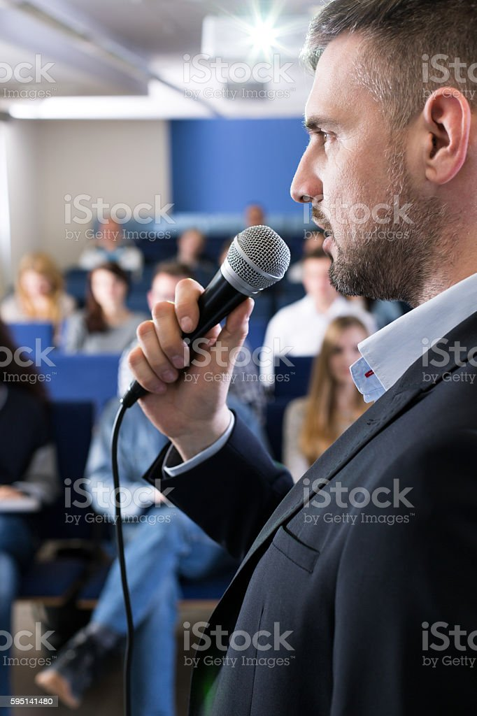 Serious approach to the examination that is about to start stock photo
