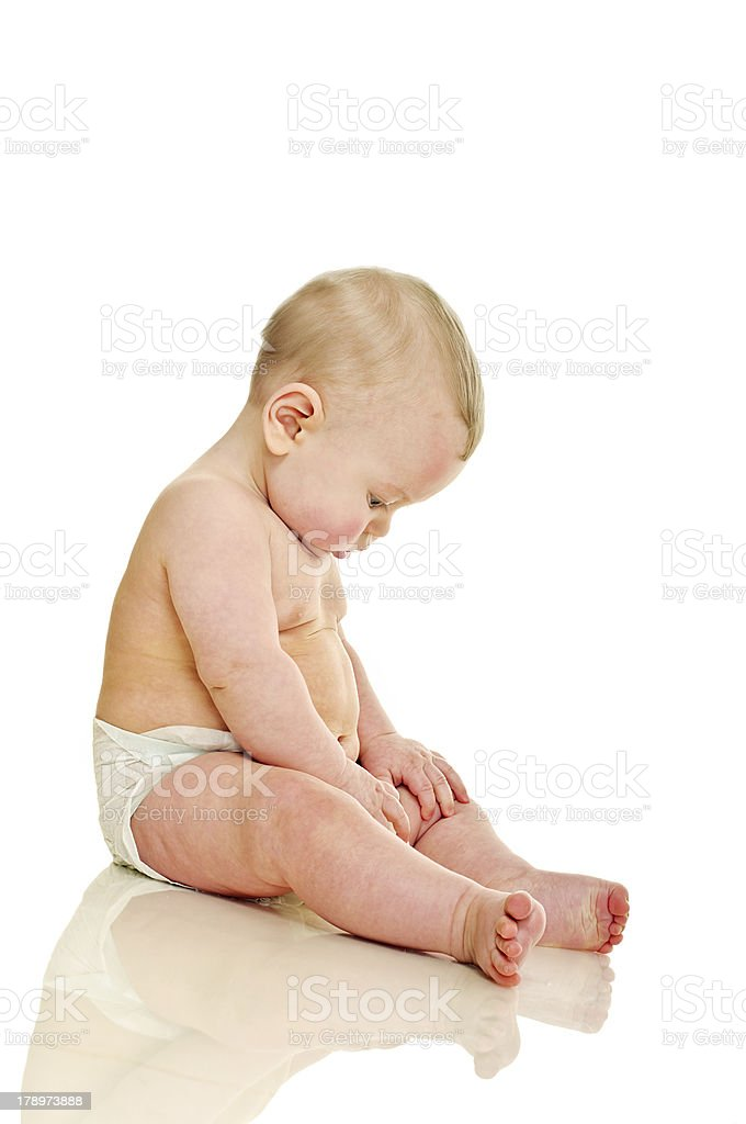 serious baby royalty-free stock photo