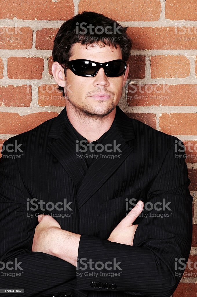 Serious Bouncer royalty-free stock photo