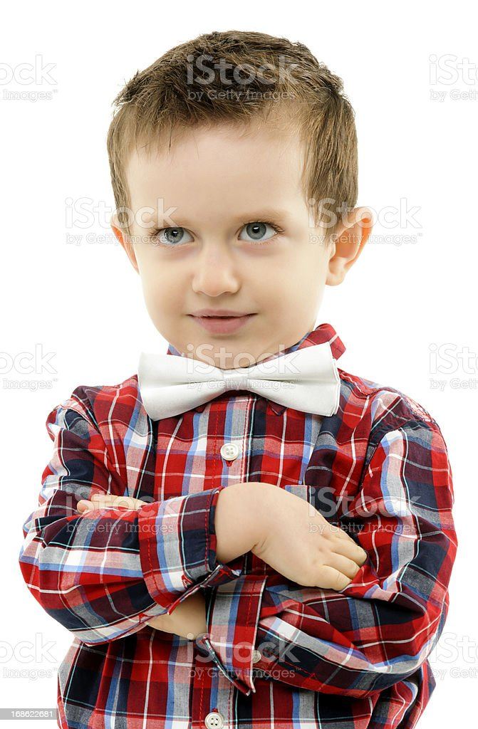 serious boy royalty-free stock photo