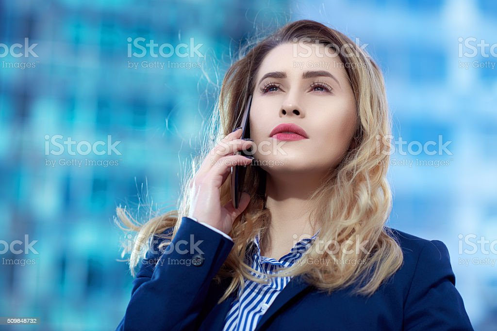 serious business conversation stock photo
