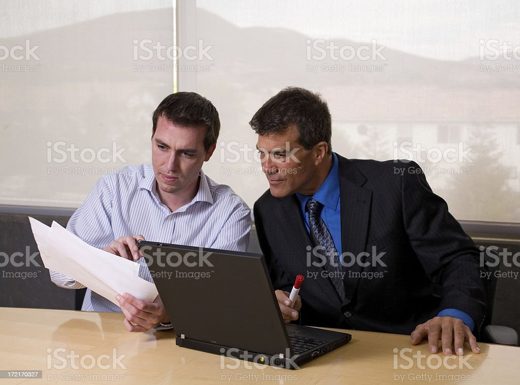 Serious Business Discussion royalty-free stock photo