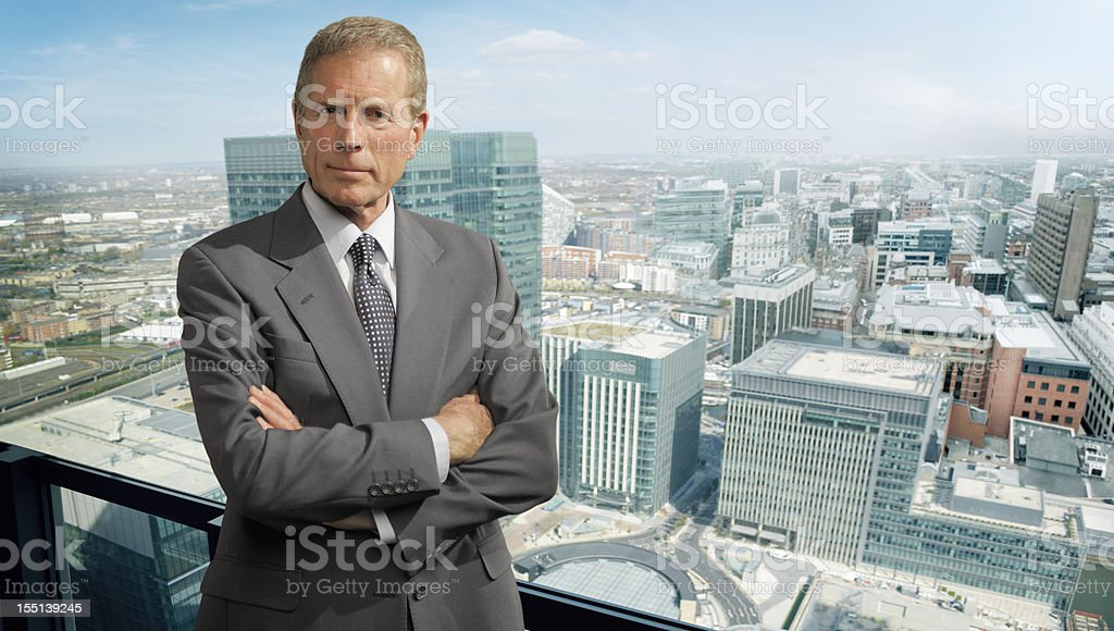 Serious Business Man in City royalty-free stock photo