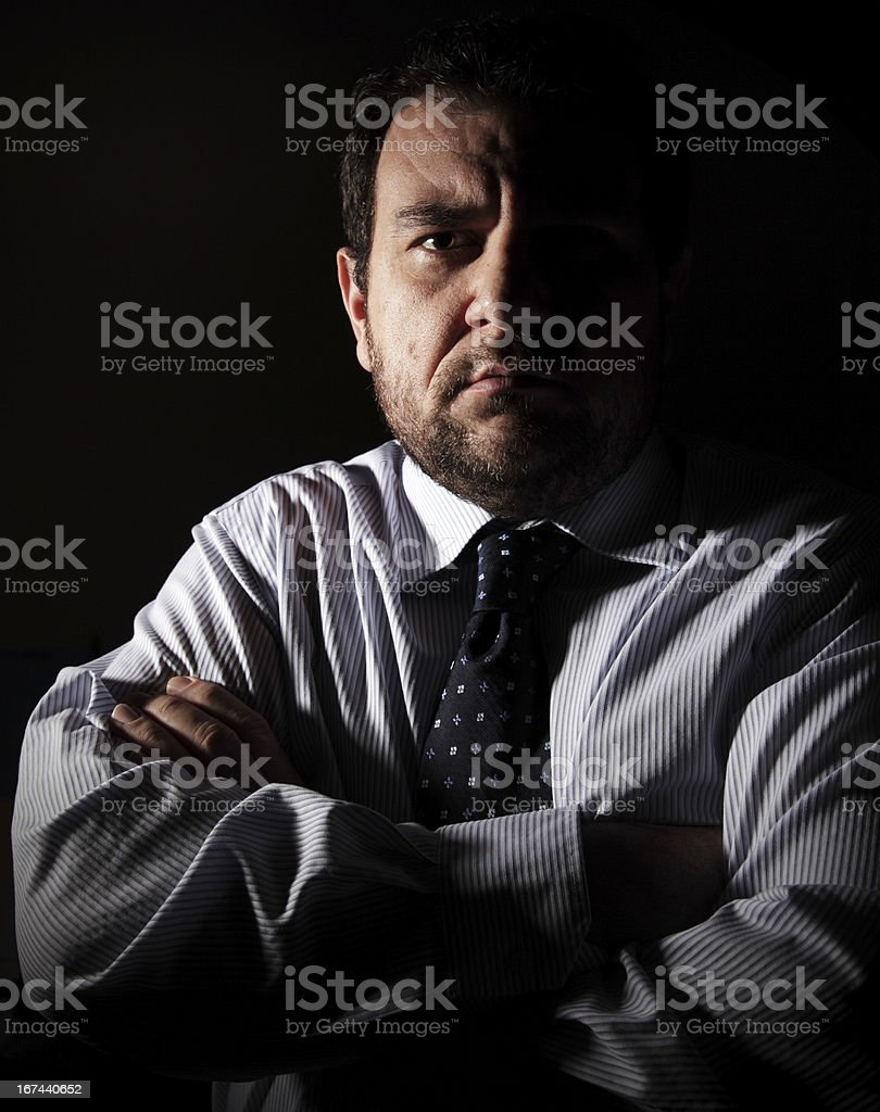 Serious Business Man royalty-free stock photo