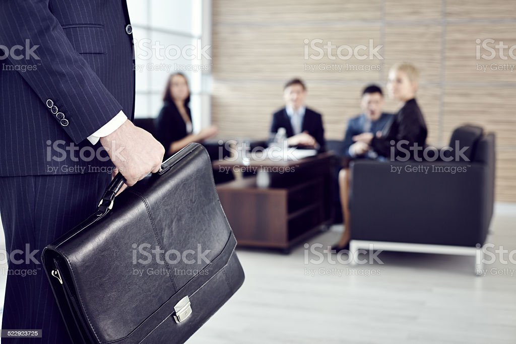 serious business meeting stock photo