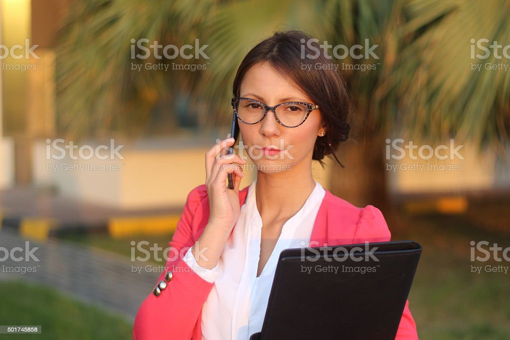Serious business woman - Stock Image stock photo