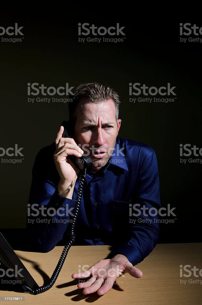 Serious Businessman on Phone royalty-free stock photo