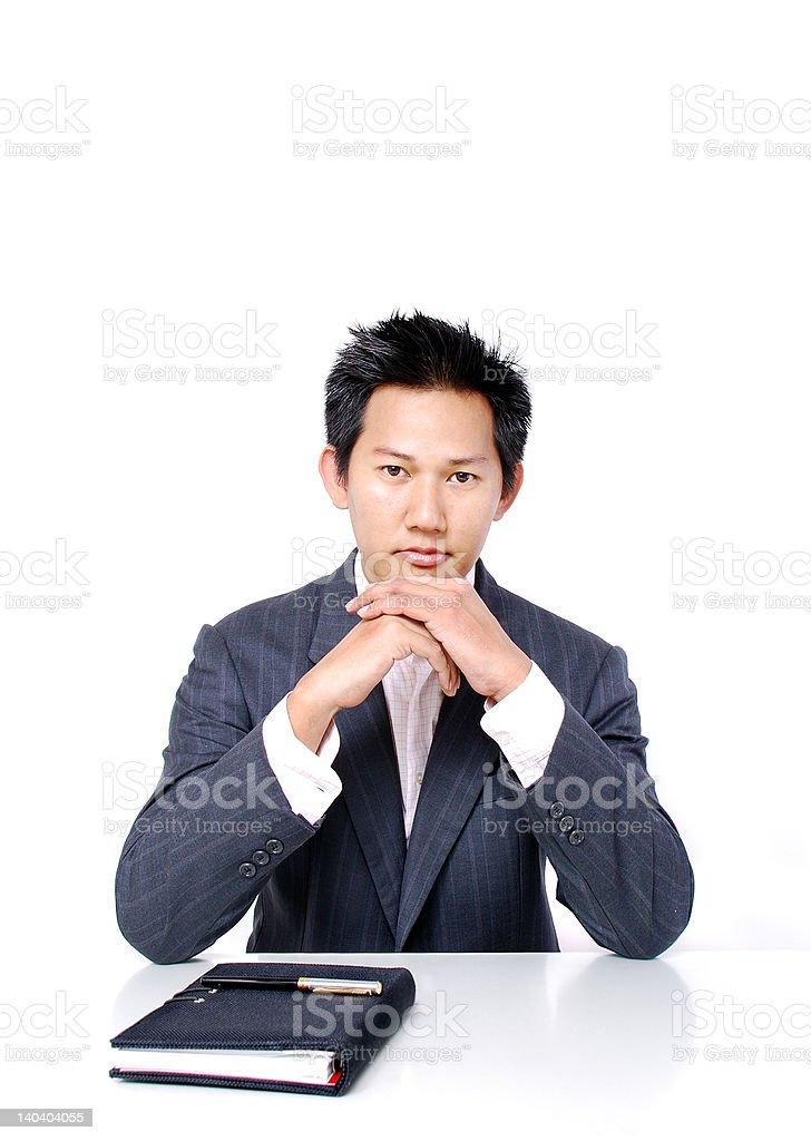 Serious businessman royalty-free stock photo