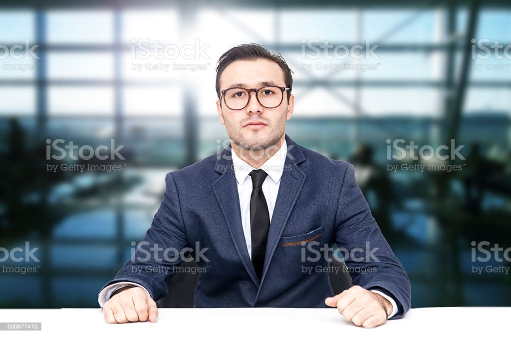 Serious Businessman stock photo