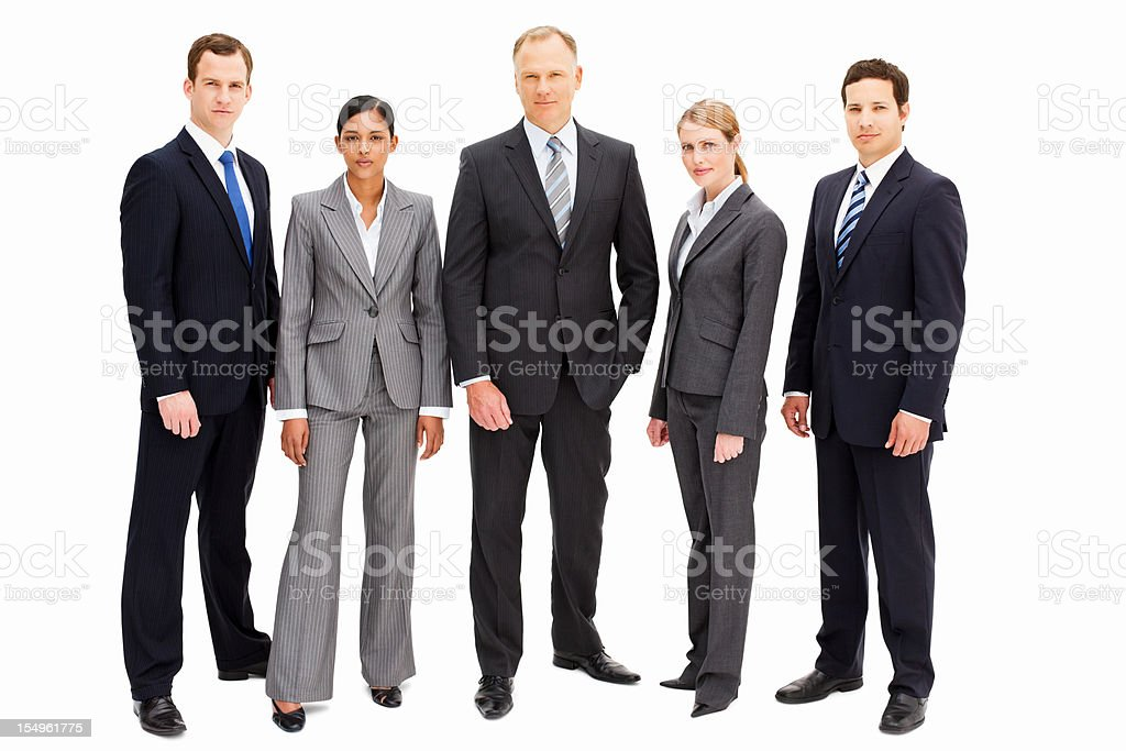 Serious Businesspeople - Isolated stock photo
