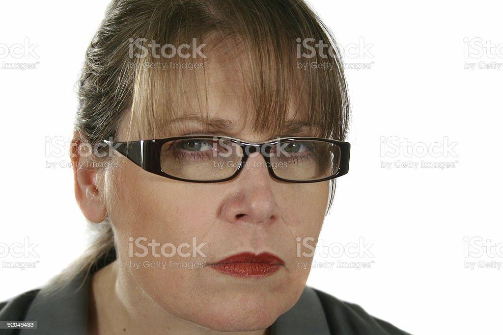 Serious Businesswoman royalty-free stock photo