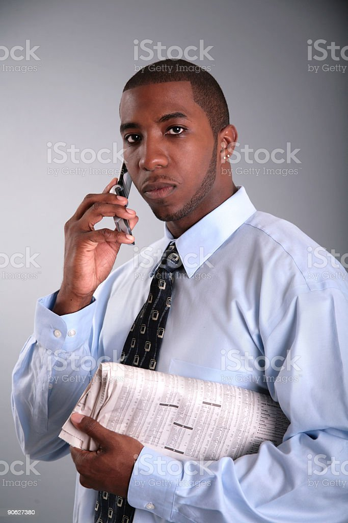 Serious Call stock photo