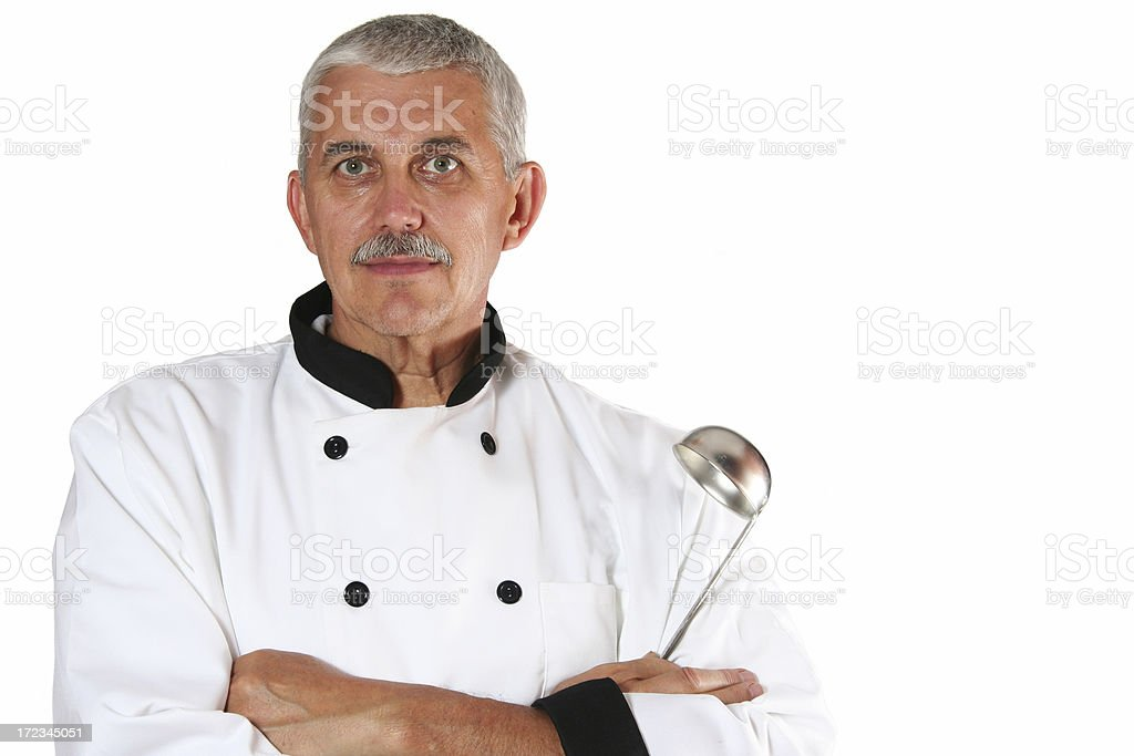 Serious Chef royalty-free stock photo