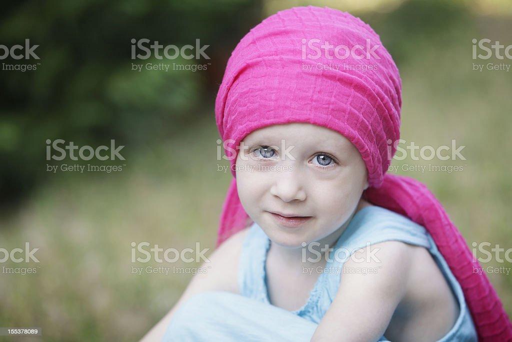 Serious Chemo Child royalty-free stock photo