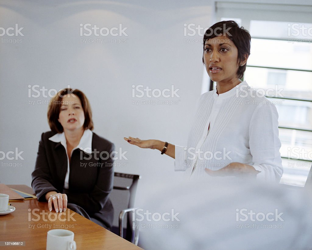 Serious Conference Discussion royalty-free stock photo