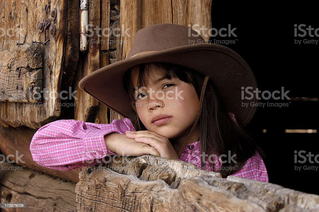 Serious Cowgirl royalty-free stock photo