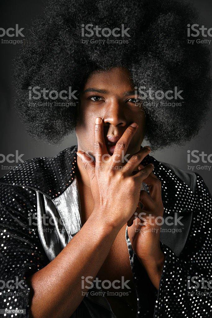 Serious Discoboy royalty-free stock photo